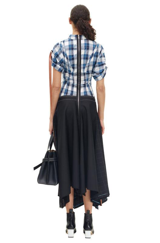 LOEWE Check Shirtdress Negro/Azul all
