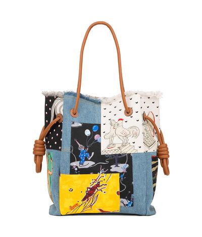 LOEWE Flamenco K Tote Paula Patc Bag Multicolor front