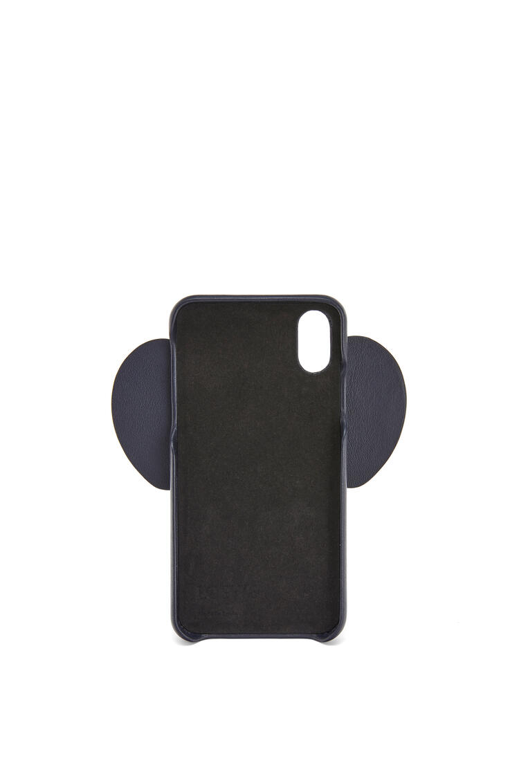 LOEWE Elephant cover for iPhone X/XS in classic calfskin Deep Blue pdp_rd
