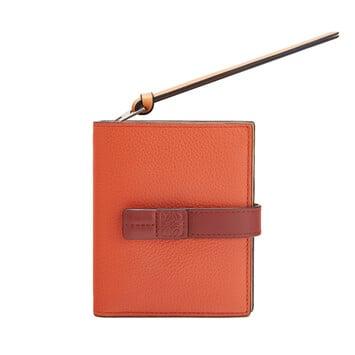 LOEWE 紧凑型拉链钱包 Coral/Soft Apricot front
