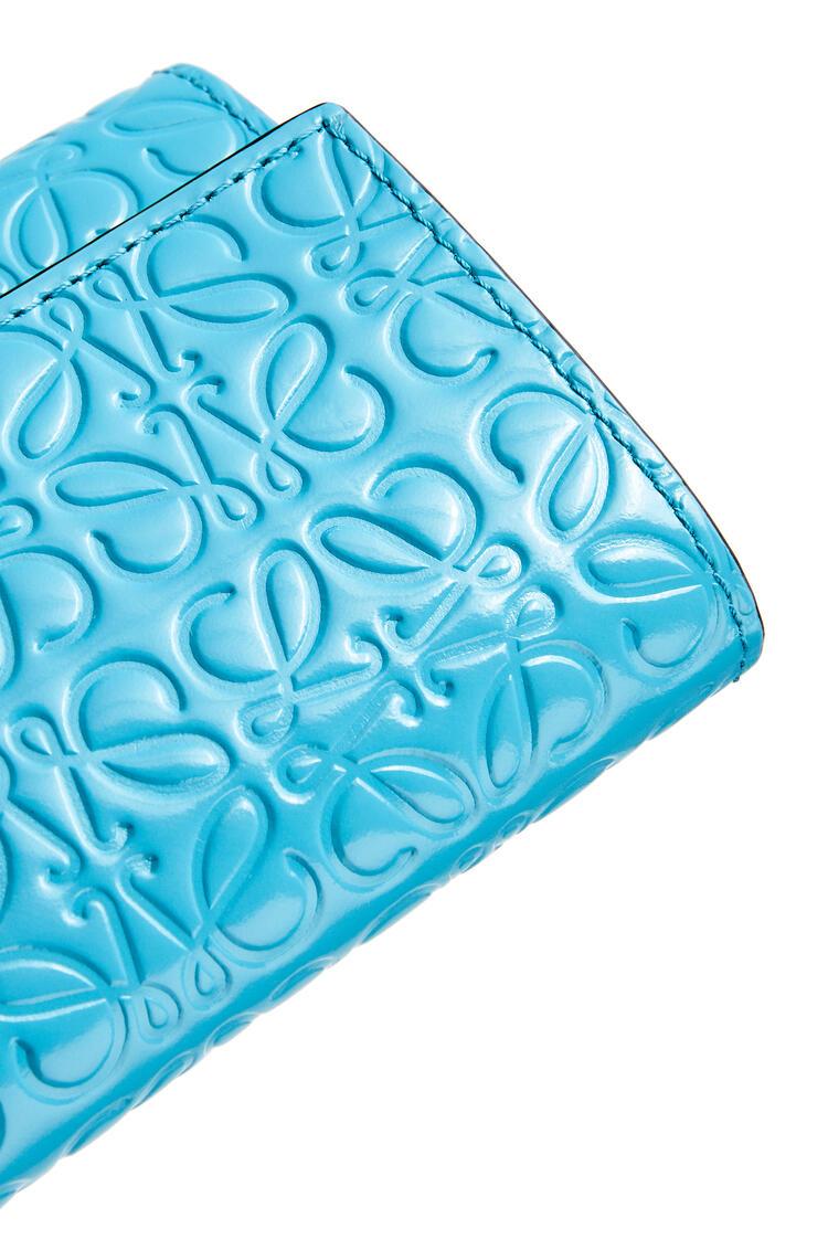LOEWE Cartera vertical pequeña en piel de ternera Azul Pavo Real pdp_rd