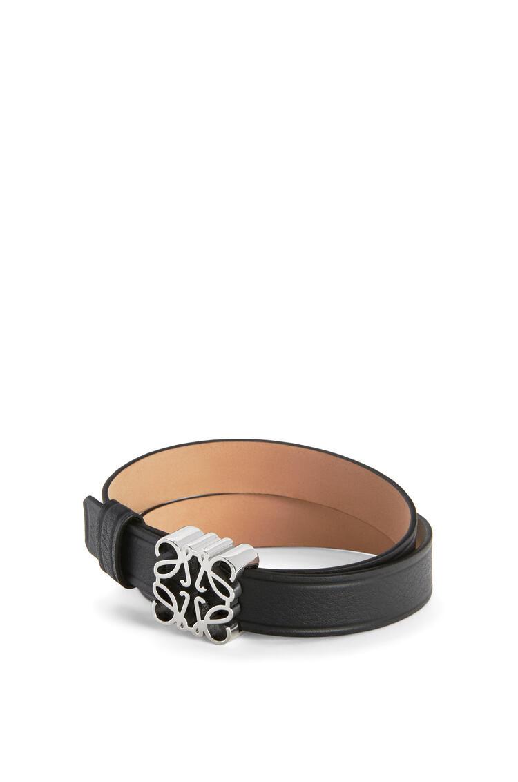 LOEWE Anagram bracelet in calfskin Black/Palladium pdp_rd