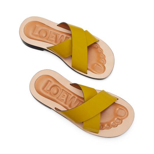 LOEWE Criss Cross Foot Sandal Green front