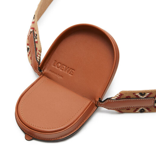 LOEWE Paula Small Heel Pouch Tan/Multicolor front