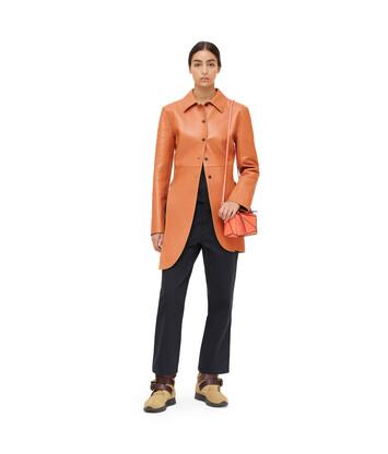 LOEWE Slit Jacket Cognac/Gold front