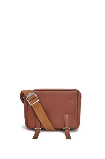 LOEWE Xs Military Messenger Bag In Calfskin Cognac pdp_rd
