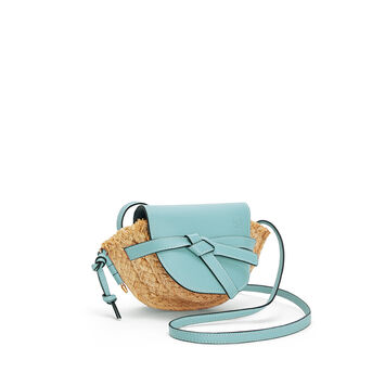 LOEWE Bolso Gate Mini Azul Claro/Natural front