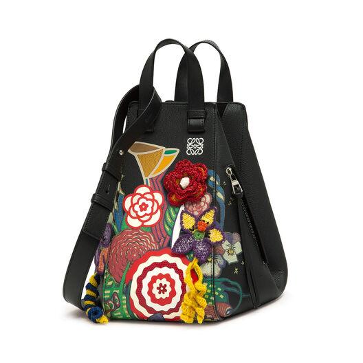 LOEWE Bolso Hammock Bouquet Mediano Negro/Multicolor all