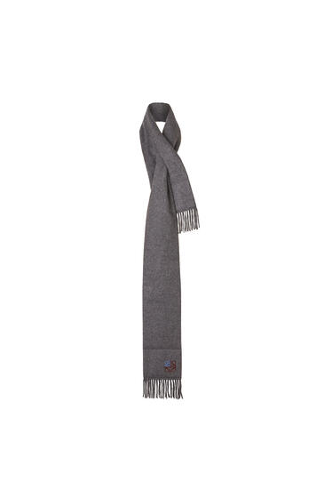LOEWE 17 X 190 Cm Padded Anagram Scarf In Cashmere 麻灰色 pdp_rd