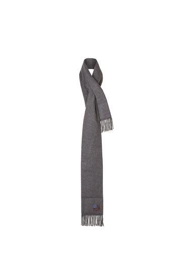 LOEWE 17 x 190 cm パッデッド アナグラム スカーフ(カシミヤ) grey melange pdp_rd