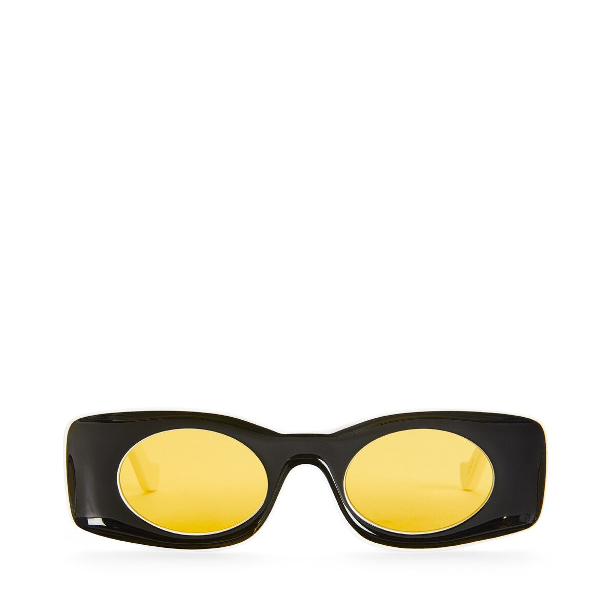 LOEWE Paula's Ibiza Original Sunglasses In Acetate 黑色/白色 front