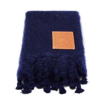 LOEWE 130X200 Blanket Loewe Patch 海军蓝 front