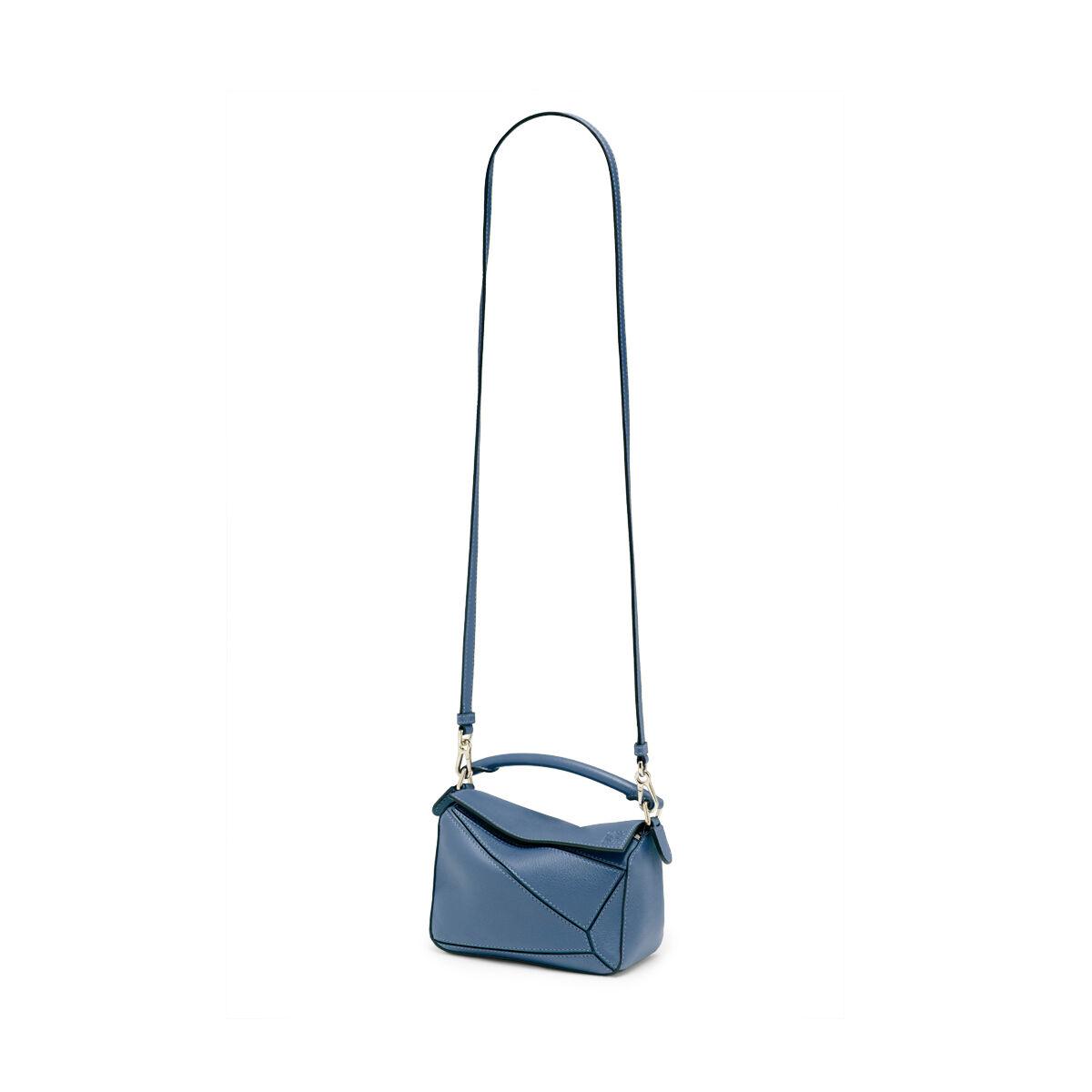 LOEWE Bolso Mini Puzzle Azul Varsity all