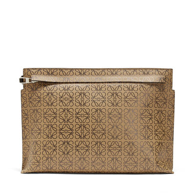 LOEWE T Pouch Repeat Mocca/Black front