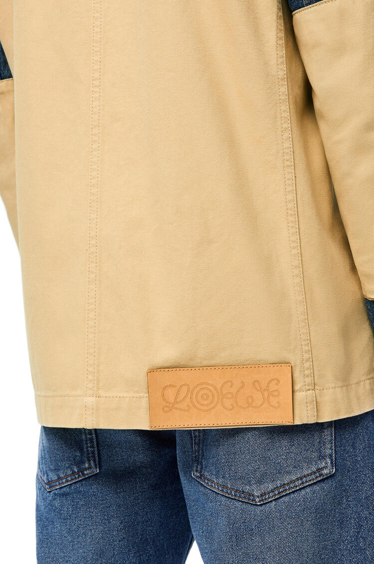 LOEWE Workwear jacket in denim and cotton Navy Blue/Ecru pdp_rd