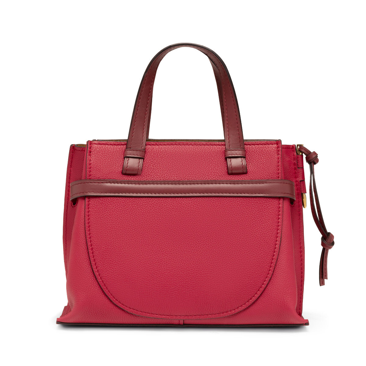 LOEWE Gate Top Handle Small Raspberry/Wine front