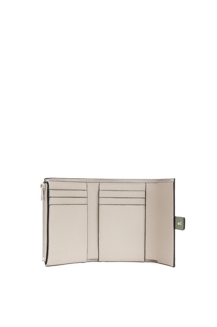 LOEWE Small vertical wallet in soft grained calfskin Rosemary/Tan pdp_rd