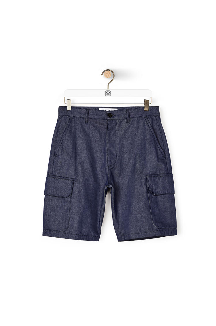 LOEWE Shorts in cotton 海軍藍 pdp_rd