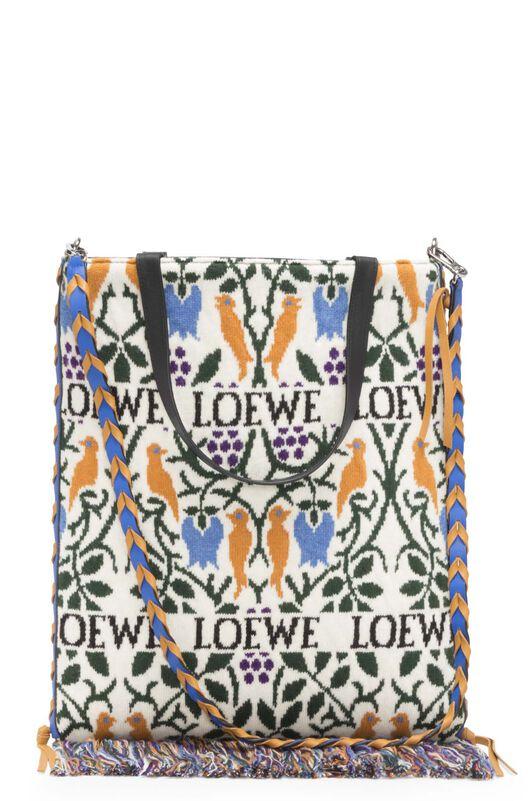 LOEWE バーティカルトートボタニカルバッグ Duke Blue/Amber all