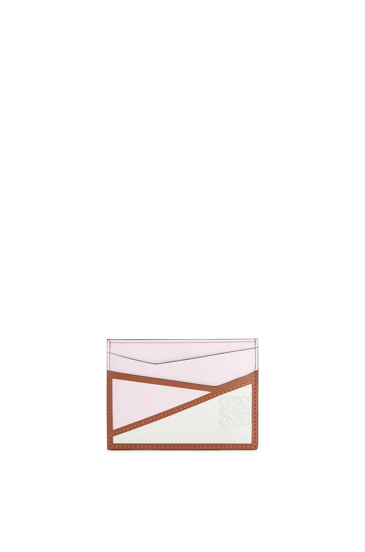 LOEWE Puzzle plain cardholder in classic calfskin Icy Pink/Soft White pdp_rd