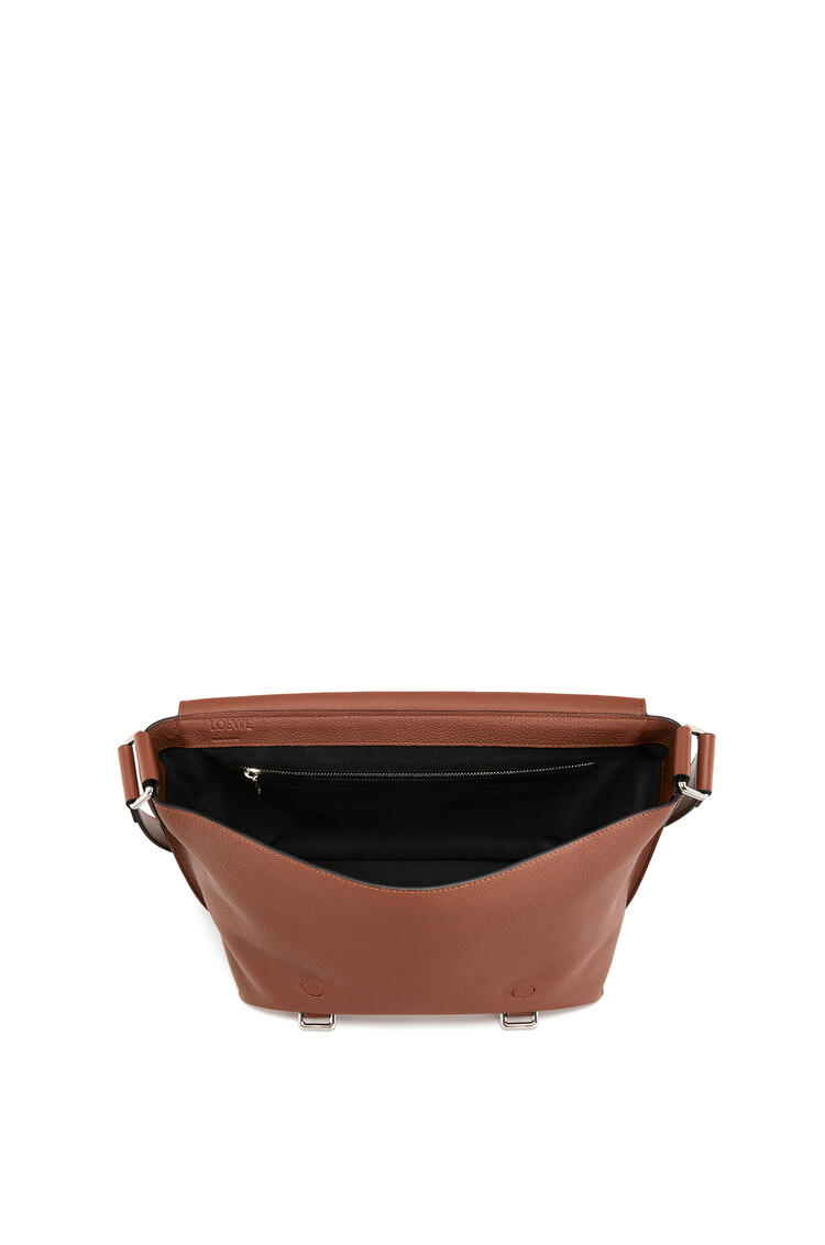 LOEWE Military Messenger Bag In Soft Grained Calfskin Cognac pdp_rd