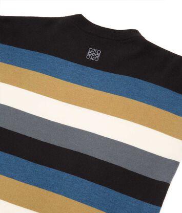 LOEWE Stripe Sweater Negro/Azul/Gris front