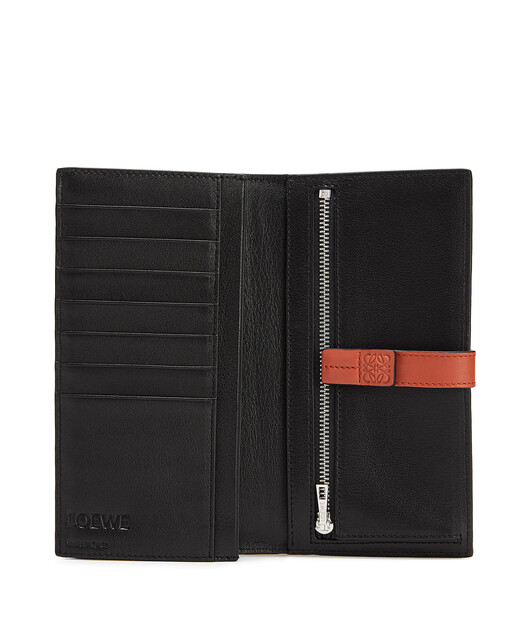 LOEWE Large Vertical Wallet Wine/Burnt Orange  front