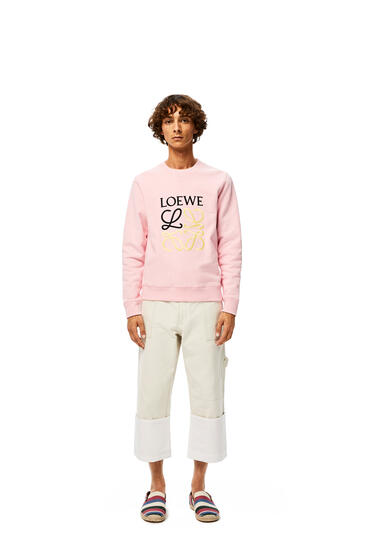 LOEWE Anagram Embroidered Sweatshirt In Cotton Baby Pink pdp_rd