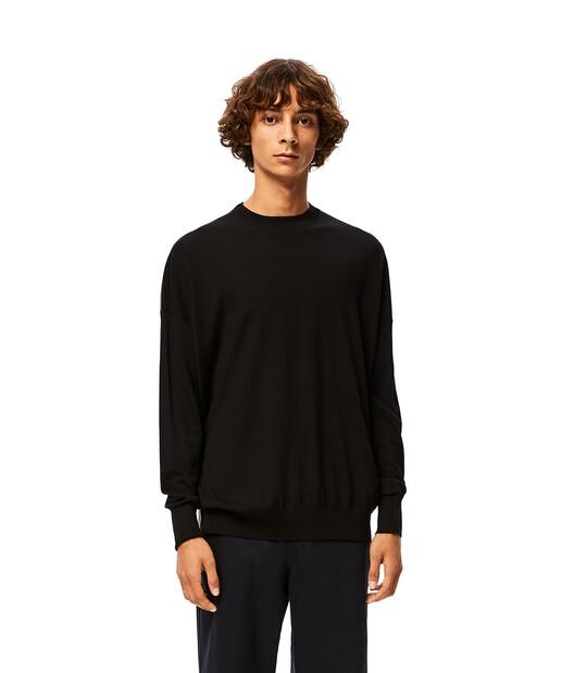 LOEWE Anagram Sweater ブラック/グレー front