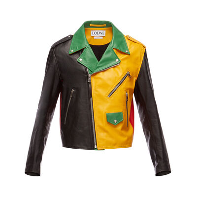 LOEWE Oversize Biker Jacket Multicolor front