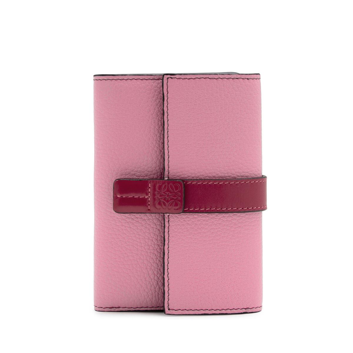 LOEWE Small Vertical Wallet Wild Rose/Raspberry front