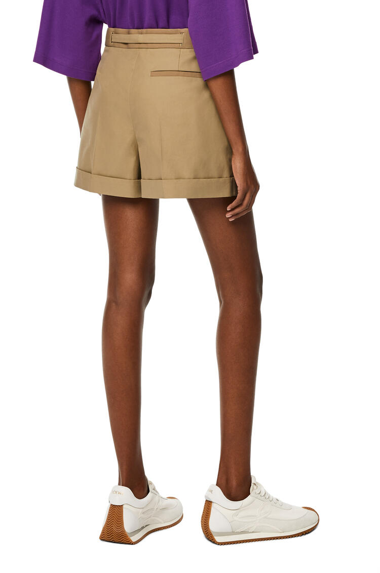 LOEWE Belted shorts in cotton Sweet Caramel pdp_rd