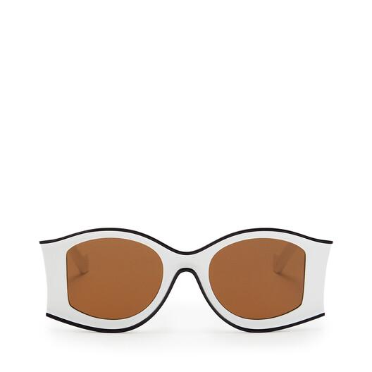 LOEWE Large Pula's Ibiza Sunglasses In Acetate White/Black front