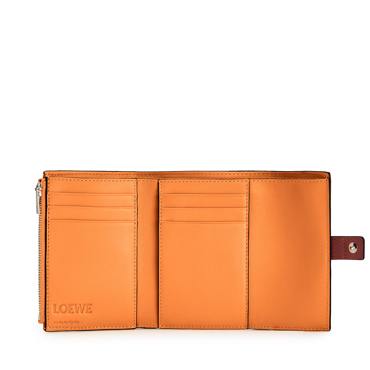 LOEWE 小号垂直钱包 Coral/Soft Apricot front