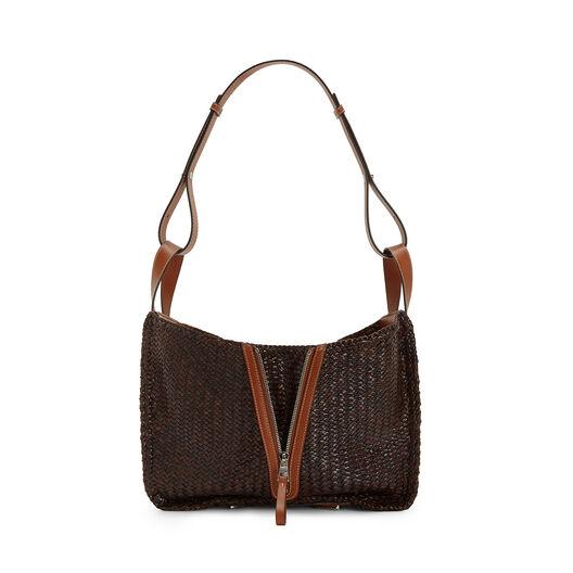 LOEWE Hammock Woven Medium Bag Brunette front