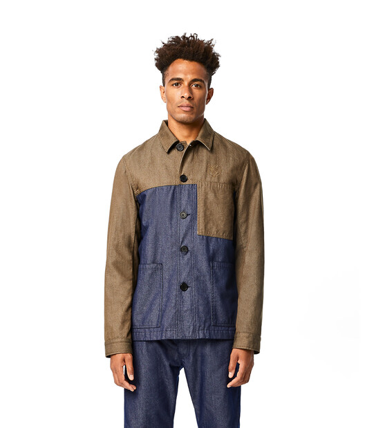 LOEWE Eln Workwear Jacket Khaki Green/Blue front
