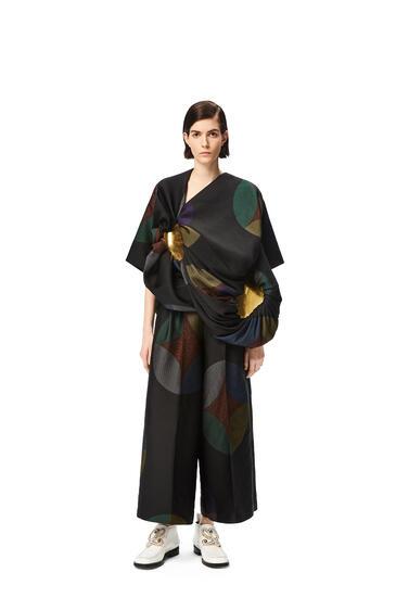 LOEWE Kaleidoscope jacquard cropped trousers Multicolor pdp_rd
