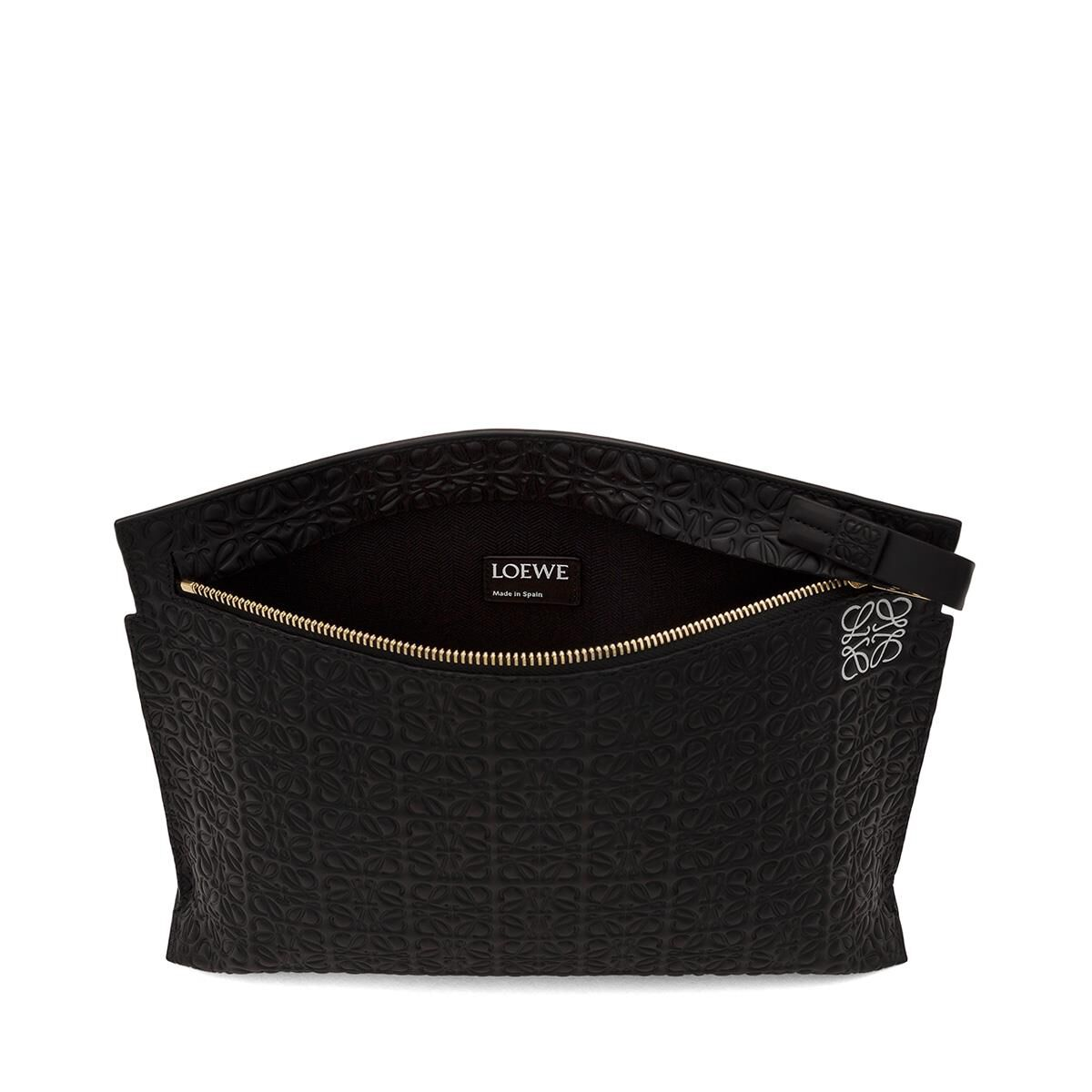 LOEWE T Pouch Repeat Black all