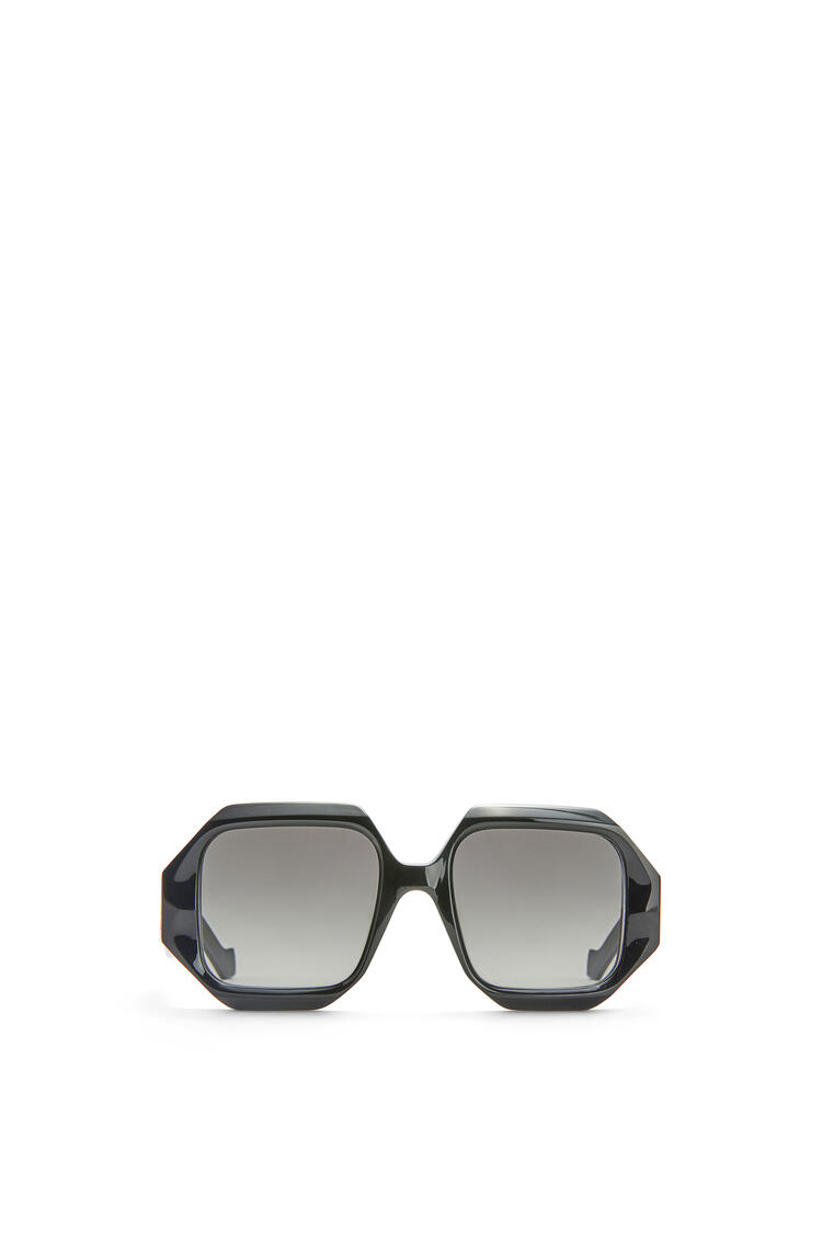 LOEWE Chunky rectangular sunglasses in acetate Black pdp_rd