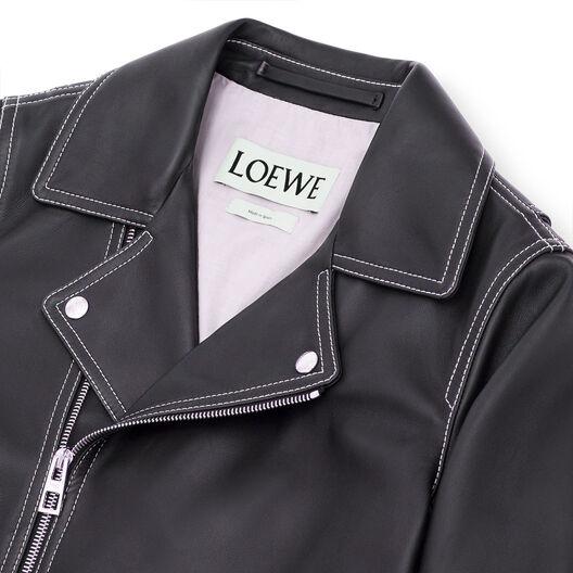 LOEWE バイカー ジャケット ブラック front
