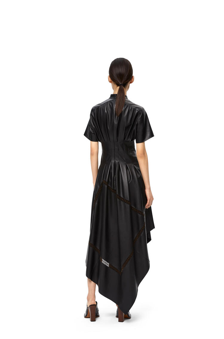 LOEWE Short sleeve dress in nappa Black pdp_rd