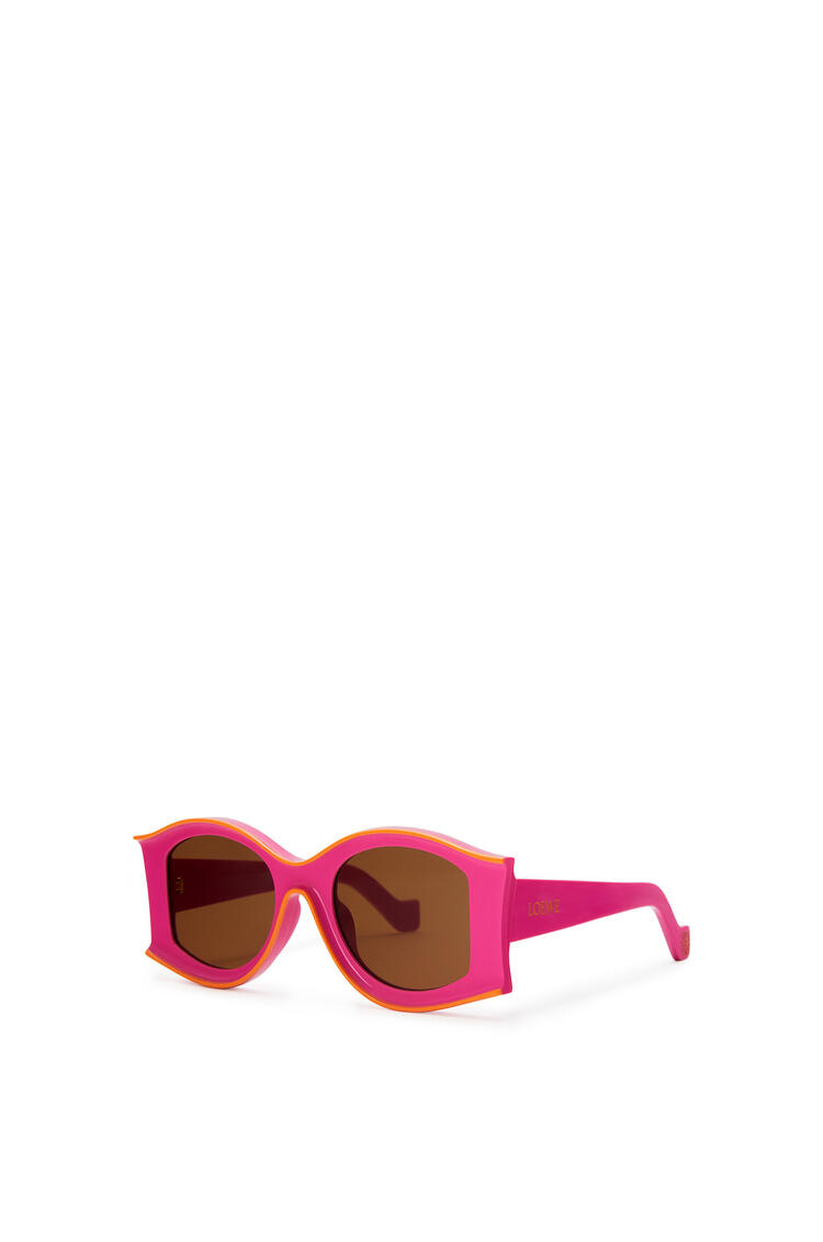 LOEWE Large Paula's Ibiza Sunglasses In Acetate Neon Pink/Neon Orange pdp_rd