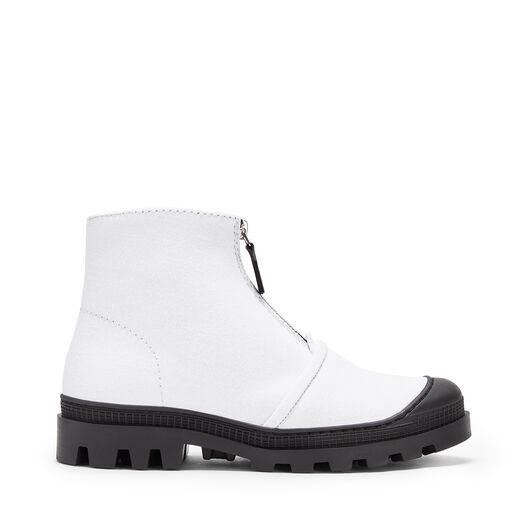 LOEWE Zip Boot White front