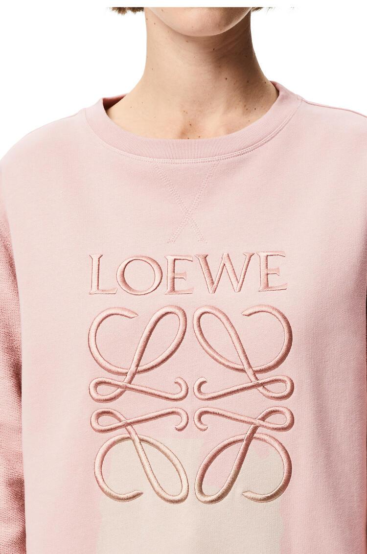 LOEWE LOEWE anagram embroidered sweatshirt in cotton Pale Salmon pdp_rd