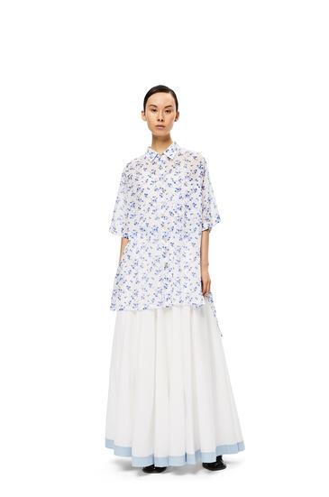 LOEWE Oversize Short Sleeve In Flower Cotton White/Blue pdp_rd