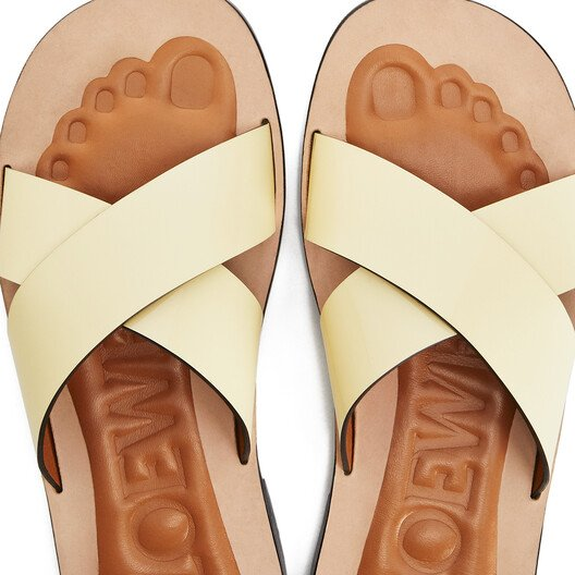 LOEWE Criss Cross Foot Sandal Light Yellow front