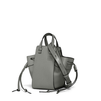 LOEWE Hammock Drawstring Mini Bag Gunmetal front