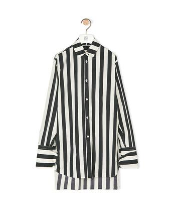 LOEWE Oversize Stripe Shirt White/Black front