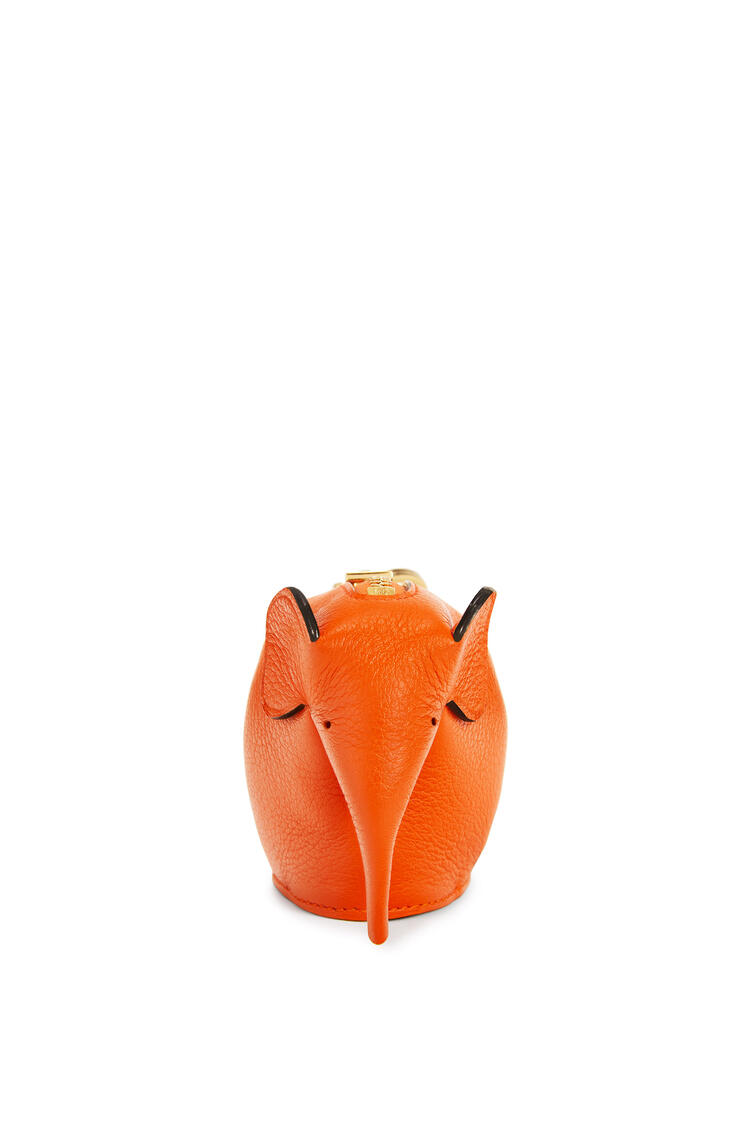LOEWE Elephant Charm In Classic Calfskin Orange pdp_rd
