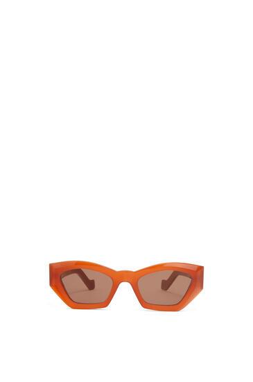 LOEWE 几何猫眼太阳镜 Rust Color/Brown pdp_rd